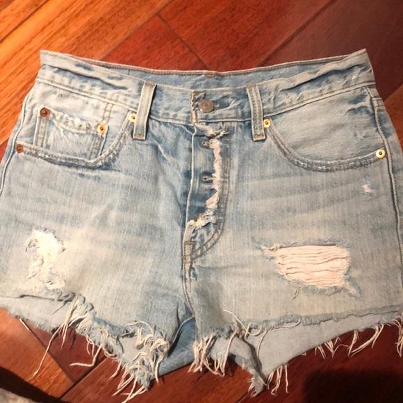 levis 501 women shorts